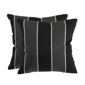 allen + roth Set of 2 Sunbrella Peyton Granite UV-Protected Square Outdoor Decorative Pillows