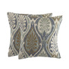 allen + roth Sunbrella 2-Pack Aura Seaglass Texture Square Outdoor Decorative Pillow