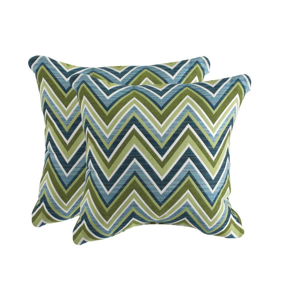 Sunbrella Outdoor Decorative Pillows : Shop allen + roth Set of 2 Sunbrella Fischer Oasis UV-Protected Square Outdoor Decorative ...