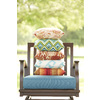 allen + roth Sunbrella 2-Pack Fischer Oasis Texture Square Throw Outdoor Decorative Pillow