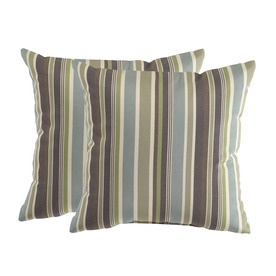 allen + roth Set of 2 Sunbrella Brandon Whisper UV-Protected Square Outdoor Decorative Pillows