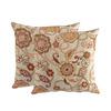 allen + roth Sunbrella 2-Pack Splendor Fiesta Floral Square Outdoor Decorative Pillow