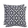 allen + roth Sunbrella 2-Pack Luxe Indigo Texture Square Outdoor Decorative Pillow