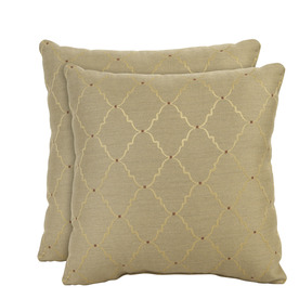 allen + roth Set of 2 Sunbrella Arch Burnish UV-Protected Square Outdoor Decorative Pillows