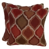 allen + roth 2-Pack Geometric Square Throw Outdoor Decorative Pillow