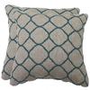 allen + roth 2-Pack Accord Lagoon Geometric Square Throw Outdoor Decorative Pillow