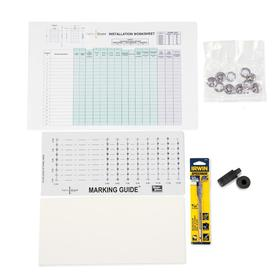 Wayne-Dalton 6-3/4-in  x 2-in Fabric Shield Installation Kit