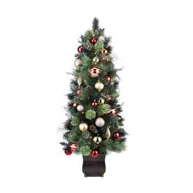 Holiday Living 4.5-ft Pre-Lit Pine Artificial Christmas Tree with White Lights