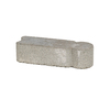  Fulton 3-in H x 12-in L Gray Low-Profile Concrete Edging Stone (Actuals 3.25-in H x 11.875-in L)