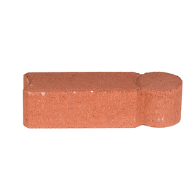 Red Geometric Edging Stone (Common: 3-in x 12-in; Actual: 3.2-in H x 11.8-in L)
