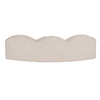 White Scallop Edging Stone (Common: 5-in x 16-in; Actual: 5.6-in H x 16-in L)