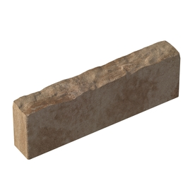 allen + roth 5-in H x 16-in L Tan/Dark Brown Tall-Profile Concrete Edging Stone (Actuals 5-in H x 16-in L)