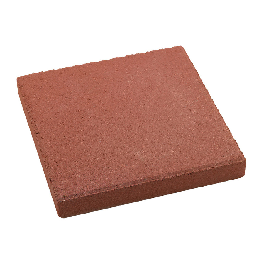 Shop Red Square Patio Stone Common 12 In X 12 In Actual