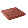 Red Concrete Brickface Patio Stone (Common: 16-in x 16-in; Actual: 15.7-in x 15.7-in)