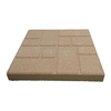 Oldcastle Fulton 16-in x 16-in Tan Square Patio Stone (Actuals 15.6-in W x 15.6-in L)