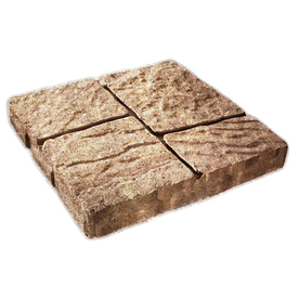 Sand Tan Four-Cobble Concrete Patio Stone (Common: 16-in x 16-in; Actual: 15.7-in x 15.7-in)