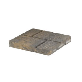allen + roth Cassay 16-in x 16-in Tan Charcoal Four-Cobble Patio Stone (Actuals 15.75-in W x 15.75-in L)