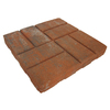 Red Brickface Concrete Patio Stone (Common: 16-in x 16-in; Actual: 15.5-in x 15.5-in)