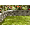 Gray Basic Retaining Wall Block (Common: 12-in x 4-in; Actual: 11.5-in x 4-in)