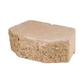 Oldcastle Fulton 8-in L x 3-in H Tan Basic Retaining Wall Block (Actuals 8.1-in L x 3-in H)