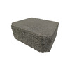 Fulton 12-in L x 4-in H Gray Basic Retaining Wall Block (Actuals 11.5-in L x 4-in H)
