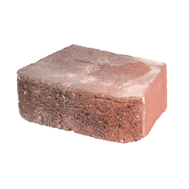 Red/Charcoal Basic Retaining Wall Block (Common: 12-in x 4-in; Actual: 11.5-in x 4-in)