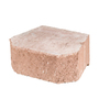 Fulton 16-in L x 6-in H Rose Basic Retaining Wall Block (Actuals 15.63-in L x 6-in H)