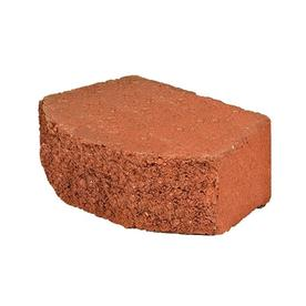 Fulton 12-in L x 4-in H Red Basic Retaining Wall Block (Actuals 11.5-in L x 4-in H)