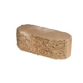 Oldcastle Fulton Tan Double Split Retaining Wall Block (Common: 12-in x 4-in; Actual: 12-in x 4-in)