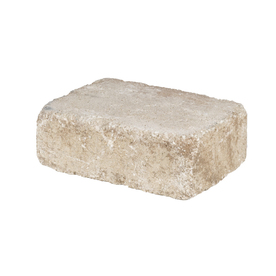 Sand/Tan Olde Manor Retaining Wall Block (Common: 12-in x 4-in; Actual: 11.5-in x 3.9-in)