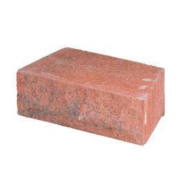allen + roth Cassay Red Chiselwall Retaining Wall Block (Common: 12-in x 4-in; Actual: 12-in x 4.1-in)
