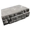 allen + roth Cassay 12-in L x 4-in H Tan/Charcoal Ledgewall Retaining Wall Block (Actuals 12.1-in L x 4-in H)