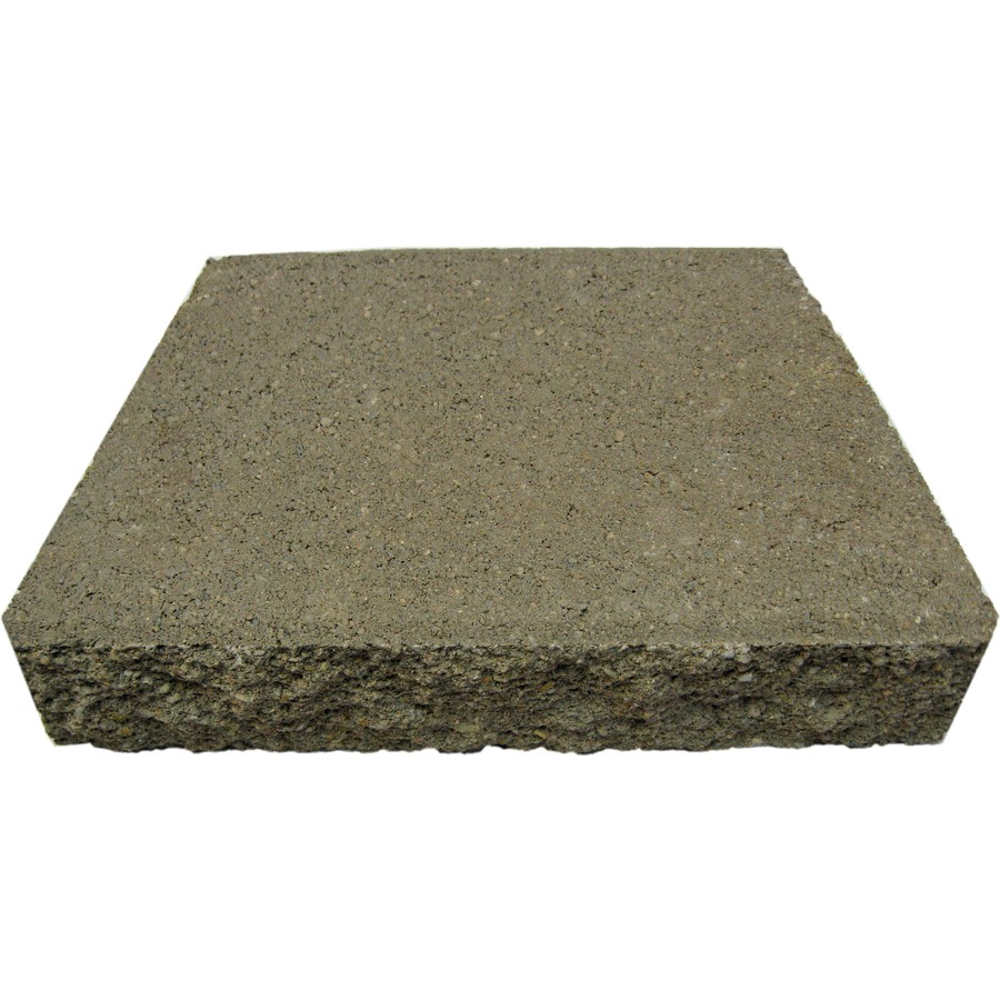 Shop Oldcastle Gray Basic Retaining Wall Cap Common 12
