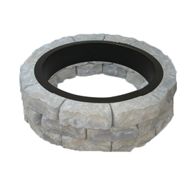 allen + roth Sand/Gray Flagstone Fire Pit Patio Block Project Kit