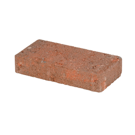 Red Charcoal Holland Concrete Patio Stone (Common: 4-in x 8-in; Actual: 3.8-in x 7.7-in)