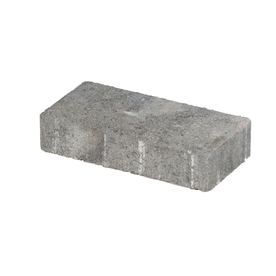 Gray Charcoal Holland Concrete Patio Stone (Common: 4-in x 8-in; Actual: 3.8-in x 7.7-in)