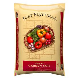 Just Natural Organic Garden Soil  Cu Ft