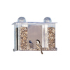 Duncraft 1 Way Mirror Super Songbird Plastic Squirrel-Resistant Platform Bird Feeder