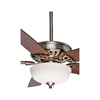 Casablanca Concentra Gallery 54-in Brushed Nickel Downrod or Close Mount Indoor Ceiling Fan with Light Kit