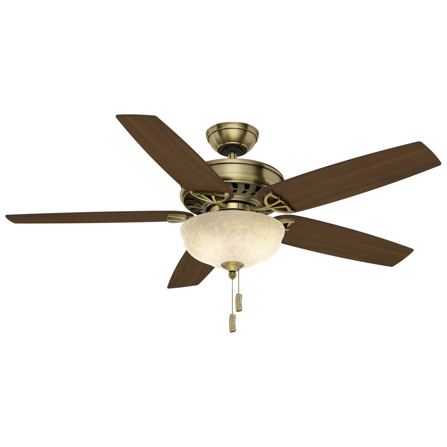 ... Brass Downrod or Flush Mount Ceiling Fan with Light Kit at Lowes.com