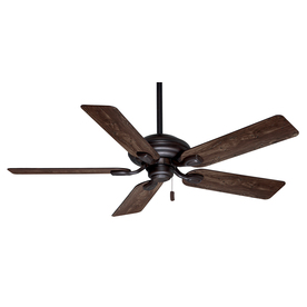 Casablanca Utopian 52-in Brushed Cocoa Downrod or Close Mount Indoor/Outdoor Ceiling Fan ENERGY STAR