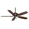 Casablanca Utopian 52-in Aged Bronze Downrod or Close Mount Indoor/Outdoor Ceiling Fan ENERGY STAR