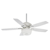 Casablanca Utopian Gallery 52-in Snow White Downrod or Close Mount Indoor/Outdoor Ceiling Fan with Light Kit and Remote