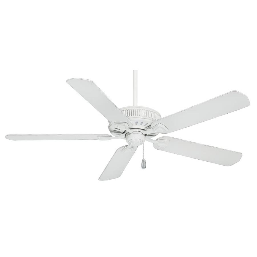 Shop casablanca ainsworth 60 in cottage white downrod or for White flush mount ceiling fan