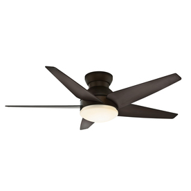 Casablanca Isotope® 52-in Brushed Cocoa Flush Mount Indoor Ceiling Fan with Light Kit and Remote Control