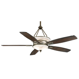 Casablanca Atria 68-in Aged Bronze Outdoor Downrod Mount Ceiling Fan with Light Kit