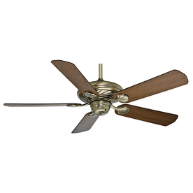 Casablanca 53-in Capistrano Antique Brass Ceiling Fan with Remote ENERGY STAR