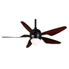 Casablanca Modena II 47-in Matte Black Downrod Mount Ceiling Fan with Light Kit and Remote (5-Blade)
