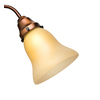 Casablanca Teck Antique Bell Frosted Glass Shade