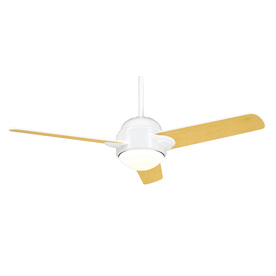Casablanca Trident 54-in Snow White Downrod Mount Ceiling Fan with Light Kit and Remote